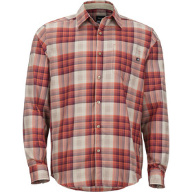 Marmot Zephyr Miehet Pitkähihainen paita , punainen